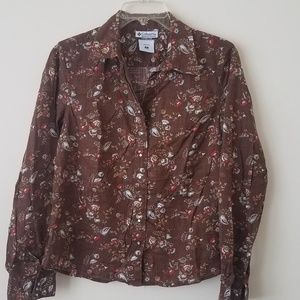 Columbia Flowered Snap Up Collared Shirt